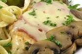 Pileća prsa u sosu od gljiva i sira